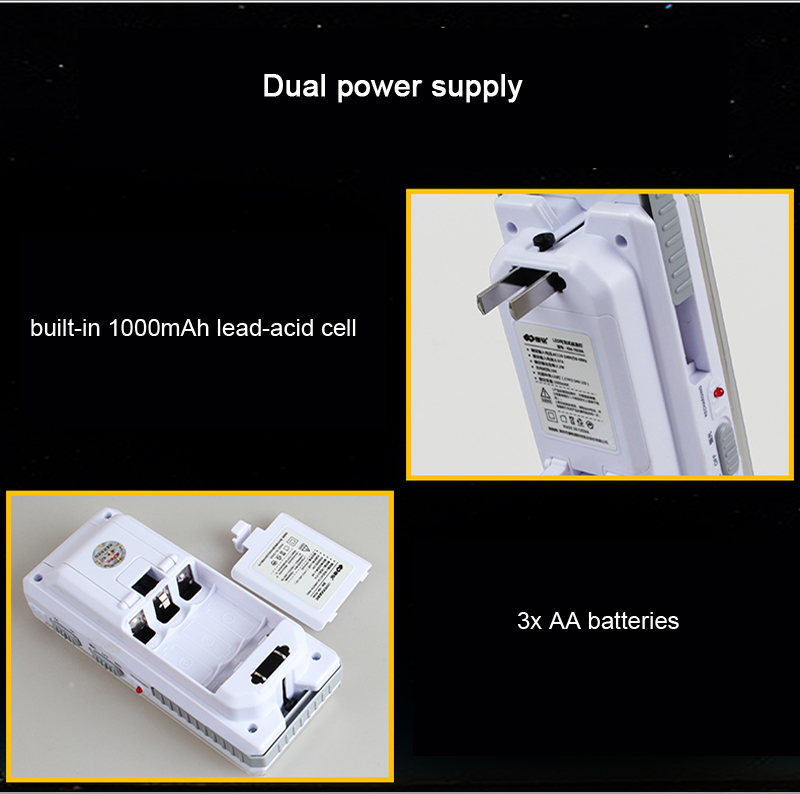 KM-7619A 27 LEDs Outdoor Camping Tent Lamp Dual Power Supply Hand-held Emergency Flashlight