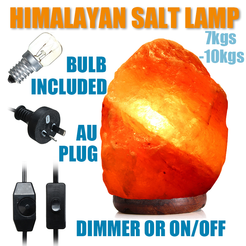 30 X 18CM Himalayan Glow Hand Carved Natural Crystal Salt Night Lamp Table Light With Dimmer Switch