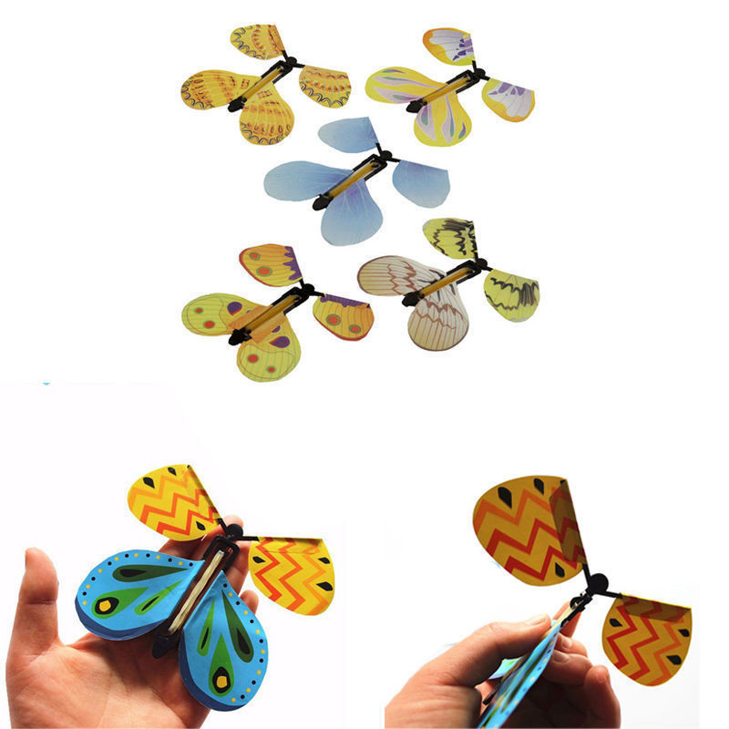 1PC Magic Props Flying Butterfly Hand Transformation Toys For Kids Christmas Tricky Funny Joke