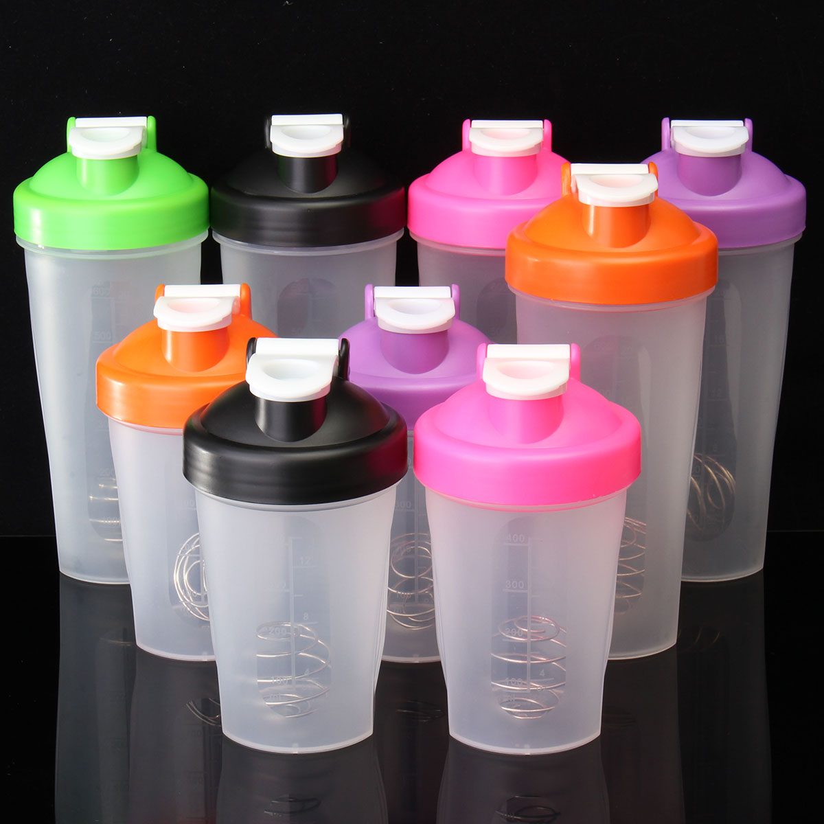 Albumen Powder Protein Milkshake Blender Shaker Sport Bottle Mixing Ball Gym Leak Proof Drinkware