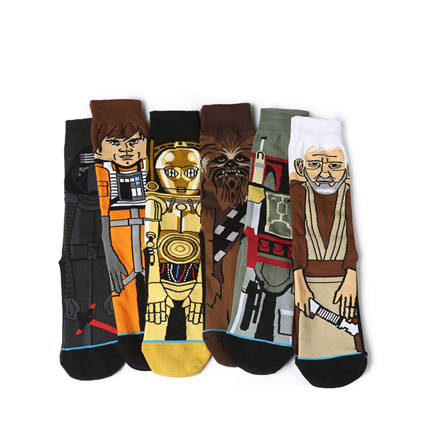 Men Novelty Star Wars Middle Tube Socks Warm Breathable Cotton Socks