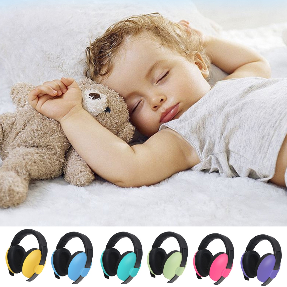 Noise Reduction Earmuffs Headphone Baby Child Boys Girls Ear Defenders Protection Headphone Headset