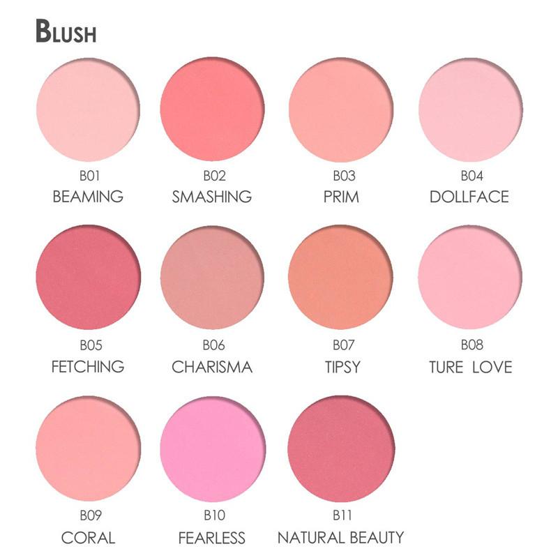 FOCALLURE Cheek Blusher Powder Blush Beauty Makeup Soft Nature Rouge Glossy Face Blush