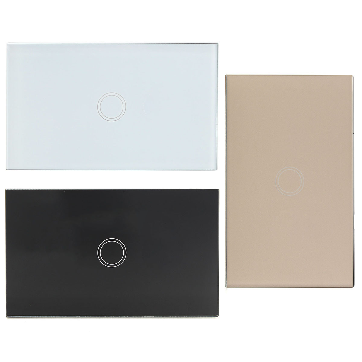 1 Way 1 Gang Crystal Glass Remote Panel Touch LED Light Switches Controller