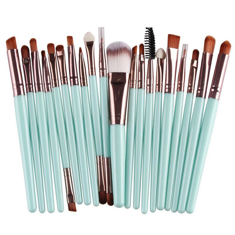 20Pcs Multifunctional Face Makeup Brushes
