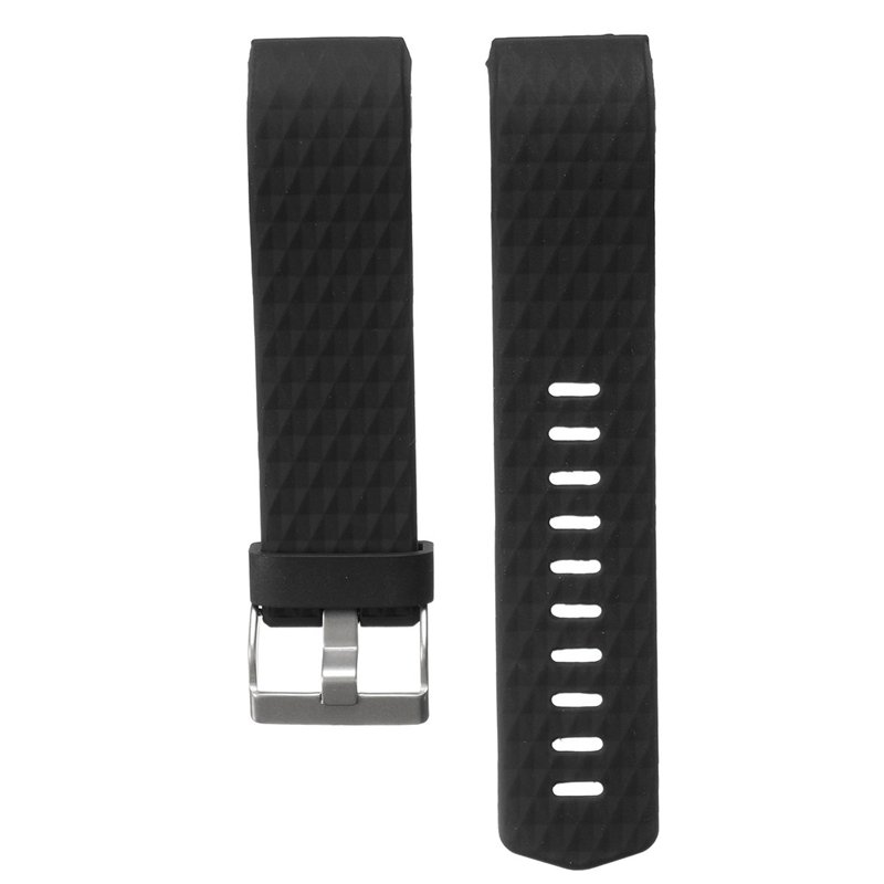 Replacement Silicone Diamond Pattern Watchband Watch Strap