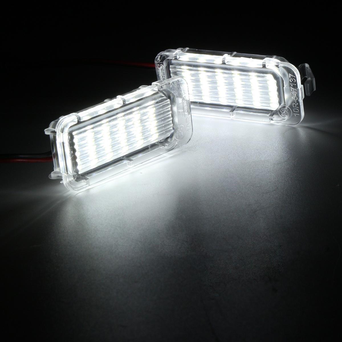 2pcs Led Car License Plate Lights Bulbs For Ford Fiesta