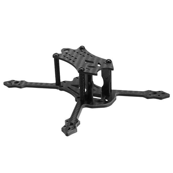 Realacc Blackbird 140 140mm 4mm Arm Carbon Fiber RC Drone FPV Racing Frame Kit with PDB and Battery Strap