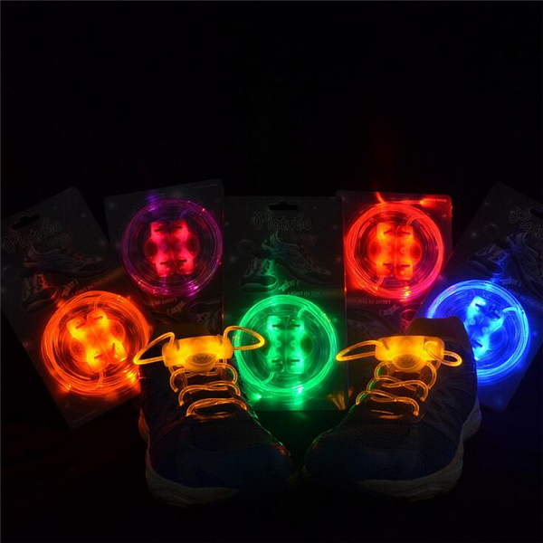 LED Shoelace Night Running Light Up Safety Shoestring Multicolor Luminous Shoelace