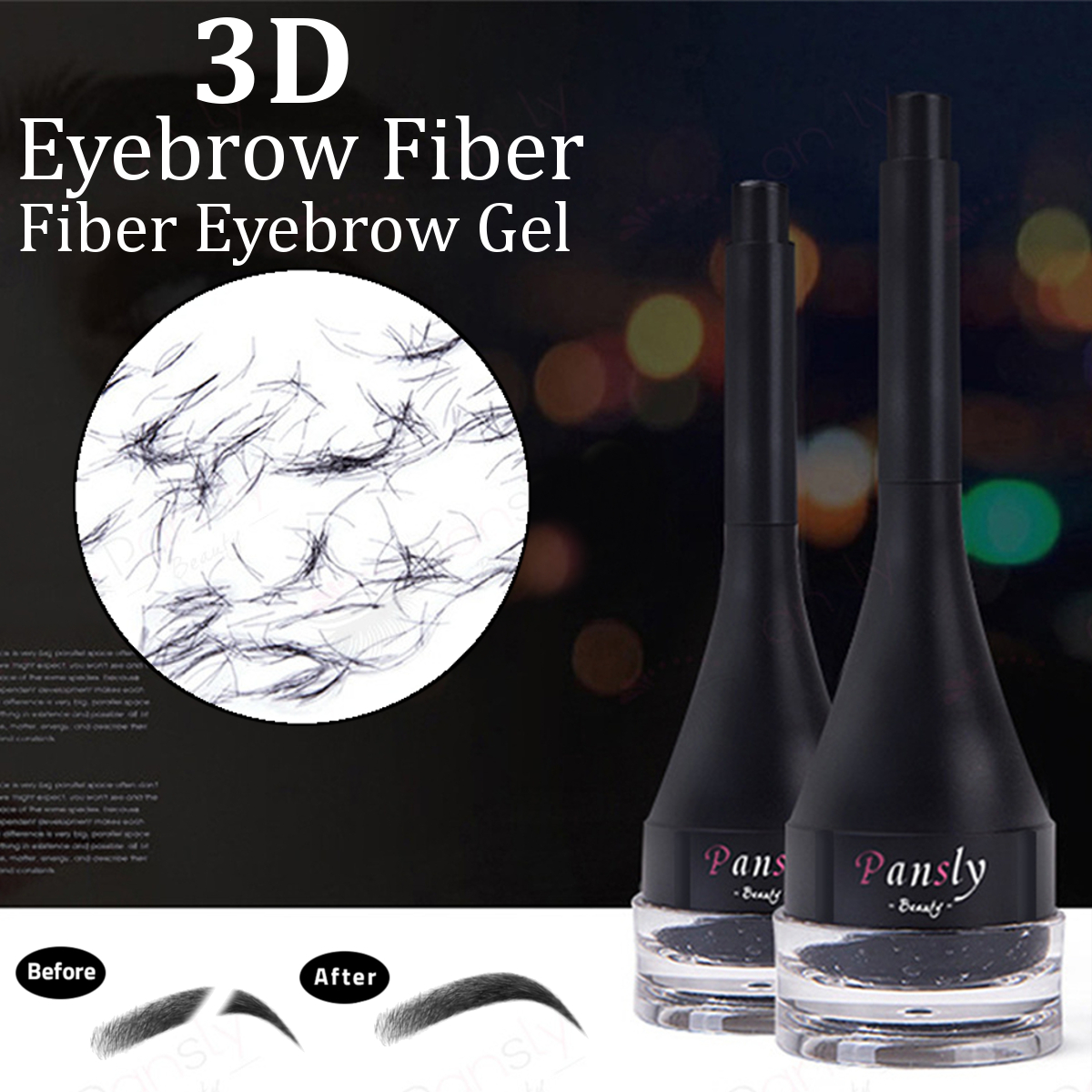 3D Hair Fiber Eyebrow Extensions