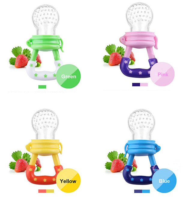 Vvcare BC-H5 Vegetables Fruit Baby Pacifier Feeder Kids Infants Reassure Nipple Drinkers Silicone Bite Buckle Teether Soother Feeding