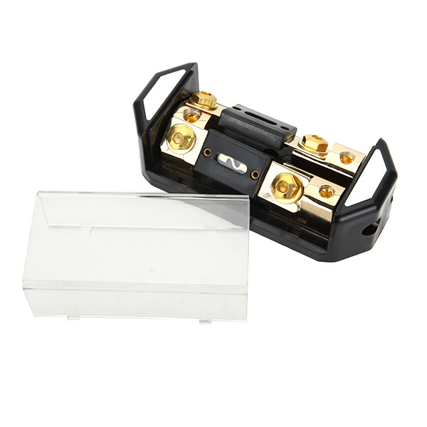 Car Stereo Audio One in Two Inline Gold Plate Fuse Holder 60A