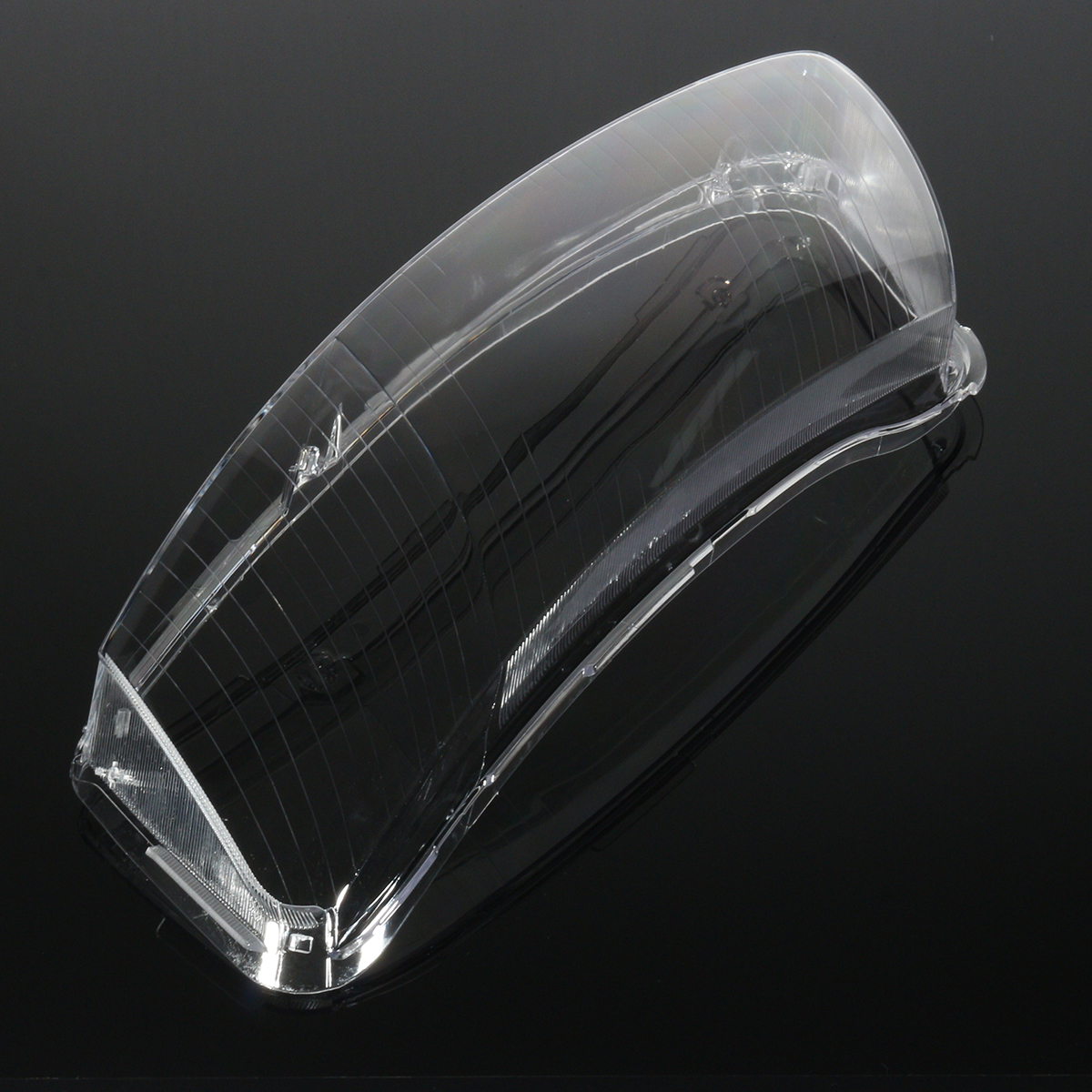 Car Headlight Lens Lampshade Clear PC Shell Cover Replacement Pair for Audi A6 C6 2006-2011