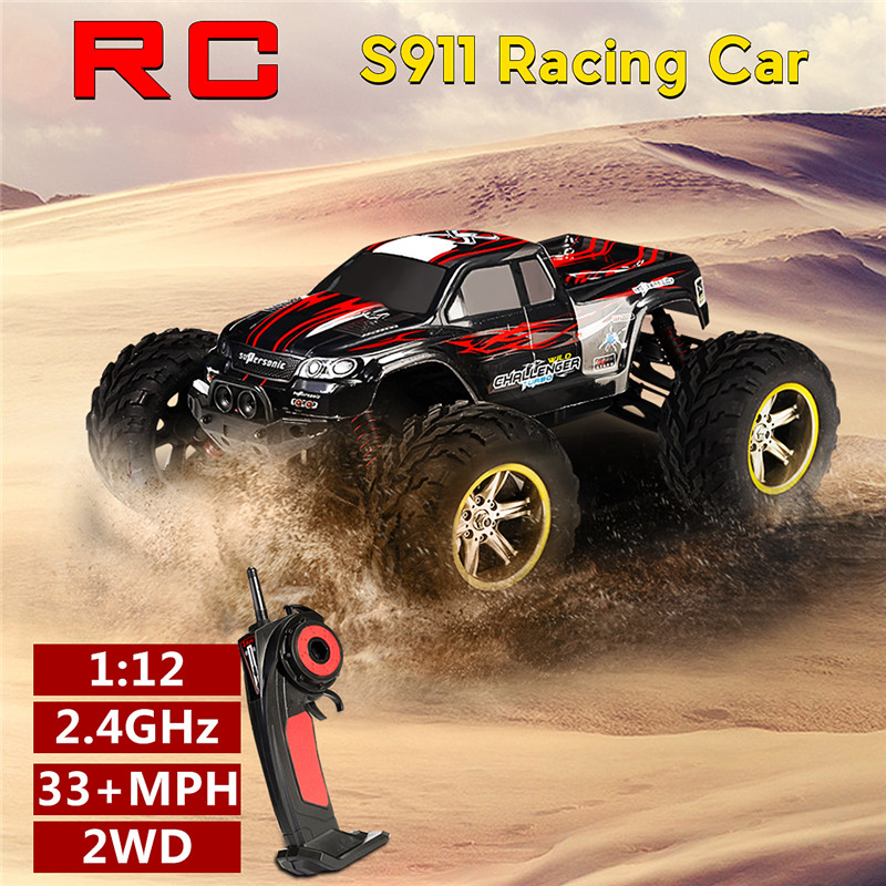 9115 33+MPH 1/12 2.4GHz 2WD High Speed OFF-Road RC Car Remote Control Monster Truck Toys