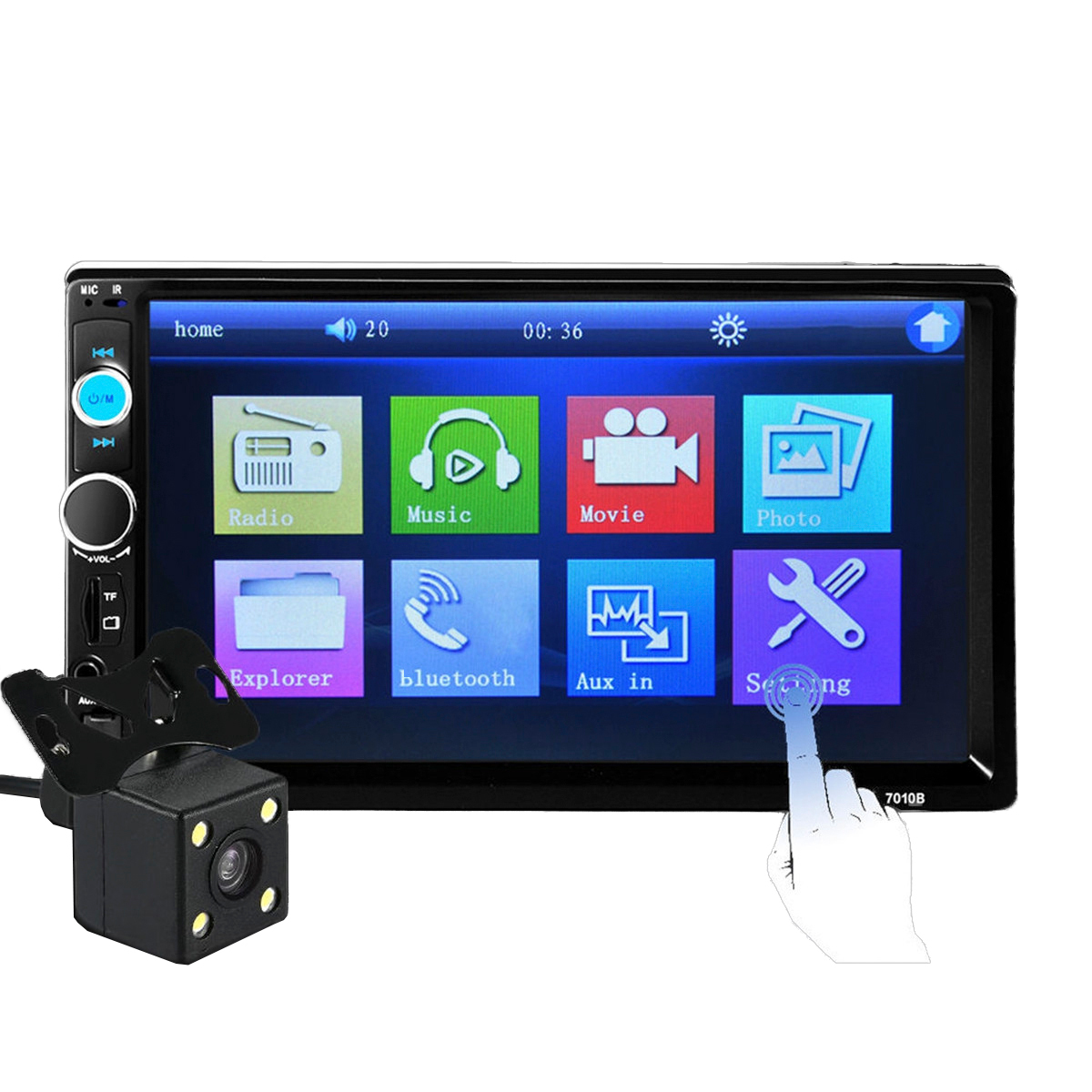 iMars 7010B 7 Inch 2Din Car MP5 Player IPS Touch Screen Stereo FM Radio bluetooth with Rear View Camera