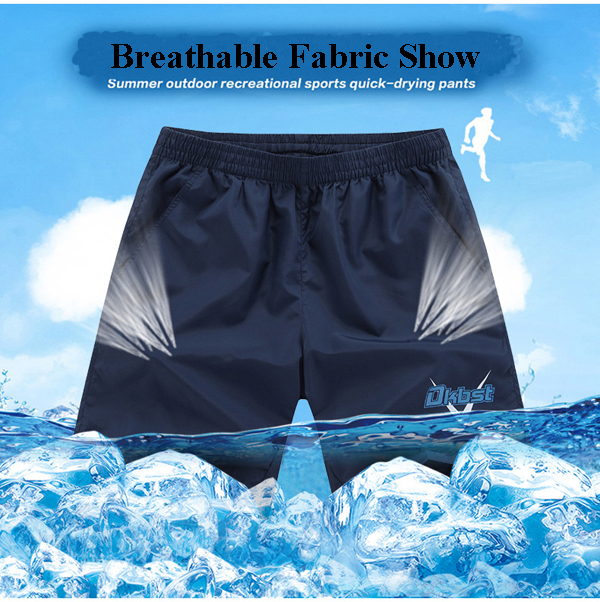 Mens Summer Quick Drying Breathable Outdooors Casual Sports Soft Loose Beach Shorts
