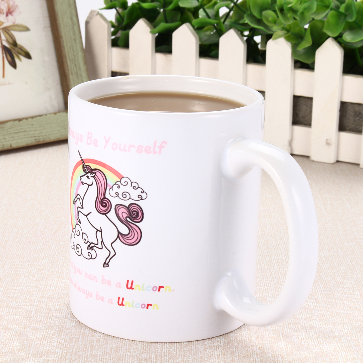 350ml Novelty Funny Unicorn Coffee Mug Always Be Yourself Home Office Cup Gift