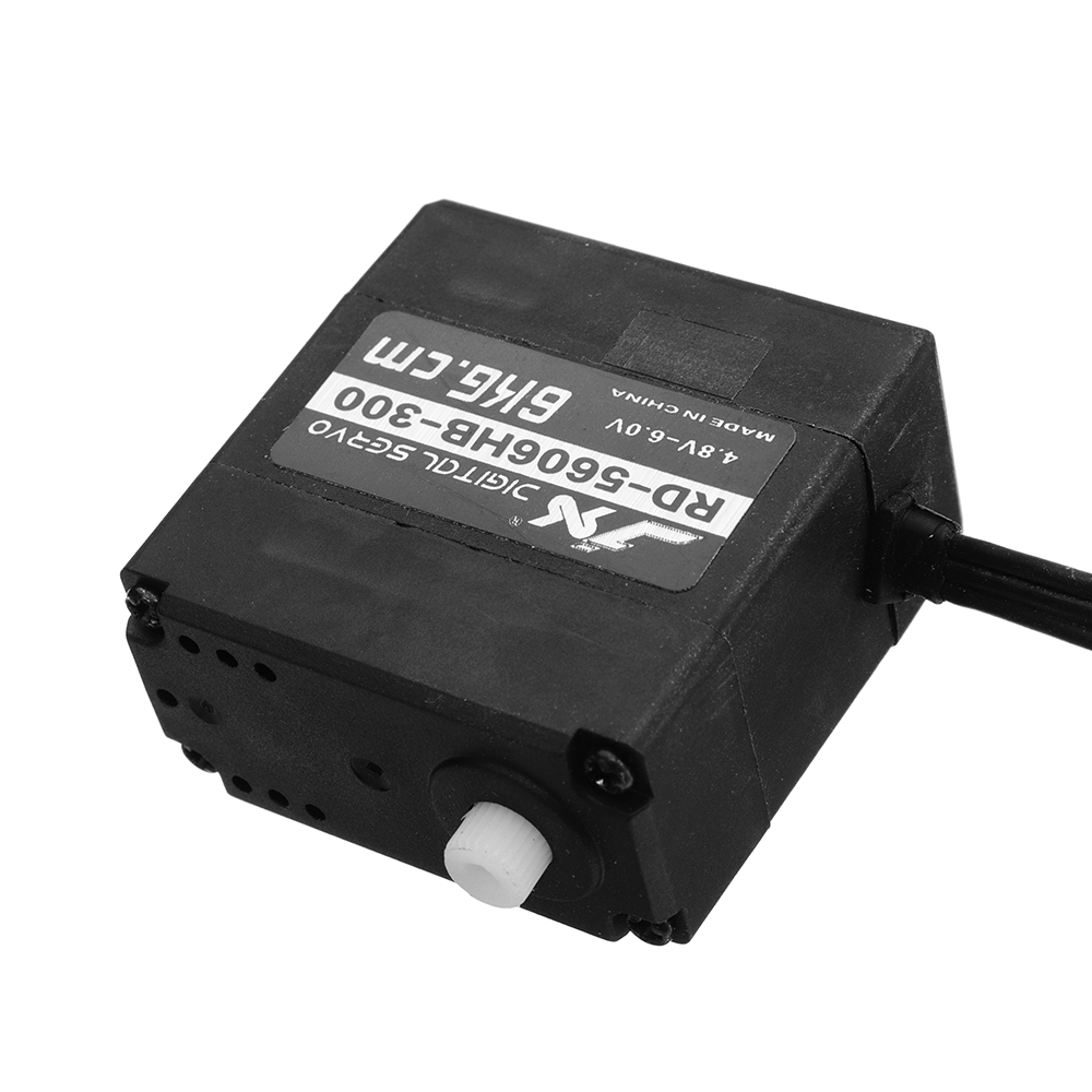 JX RD-5606HB-300 6KG Digital Plastic Double Axis Steering Gear 300° Servo For RC Robots