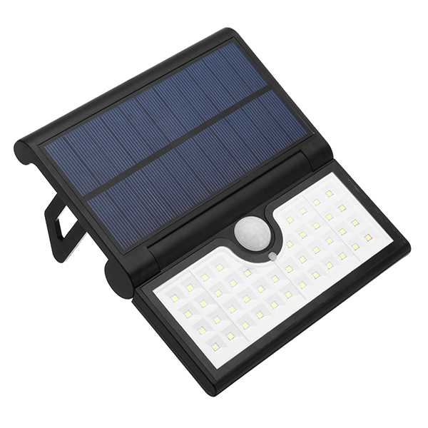 ARILUX® 14/42/58 LED Foldable Solar PIR Motion Sensor Wall Light Outdoor Waterproof Portable Lamp