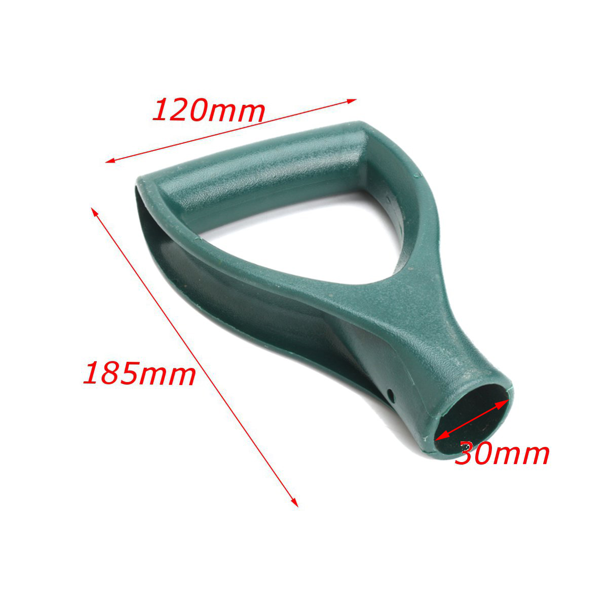 Plastic Green Scoop Poly D Grip Handle Replacement Lawn Farm Snow Removal Spade Fork Shovel