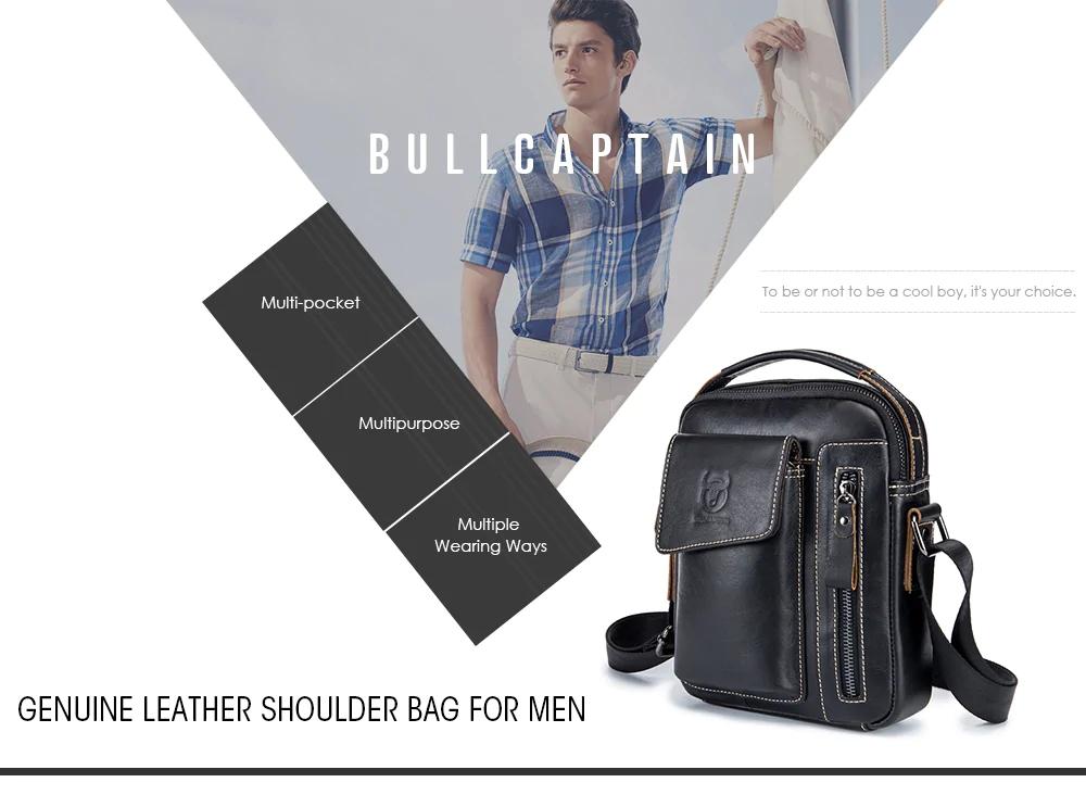 Bullcaptain Genuine Leather Business Messenger Bag