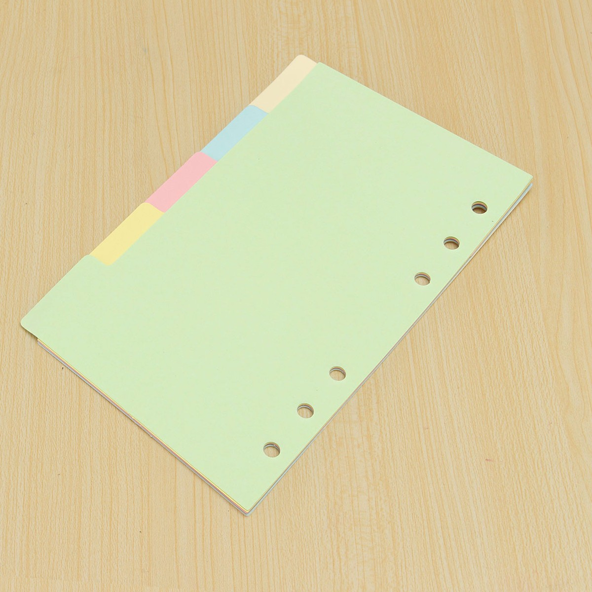5Pcs A5/A6 Size Index Multicolored Tabs Divider Insert Refill Organiser Note Paper
