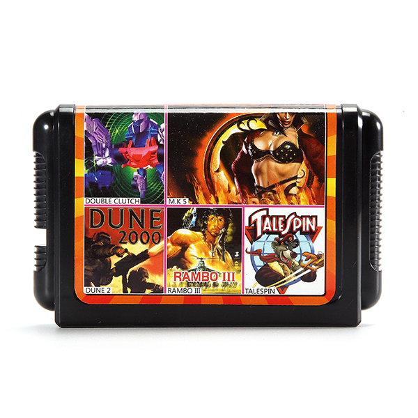 5 in 1 16 Bit Game Cartridges Classic TV Game for SEGA MD2 Game Console TH011 Combination Black Card