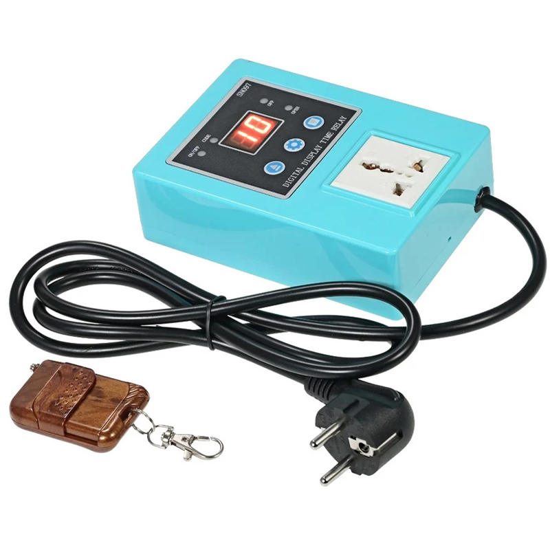 Digital Display Time Relay Power Wireless Timer Switch Controller Socket with Remote Control