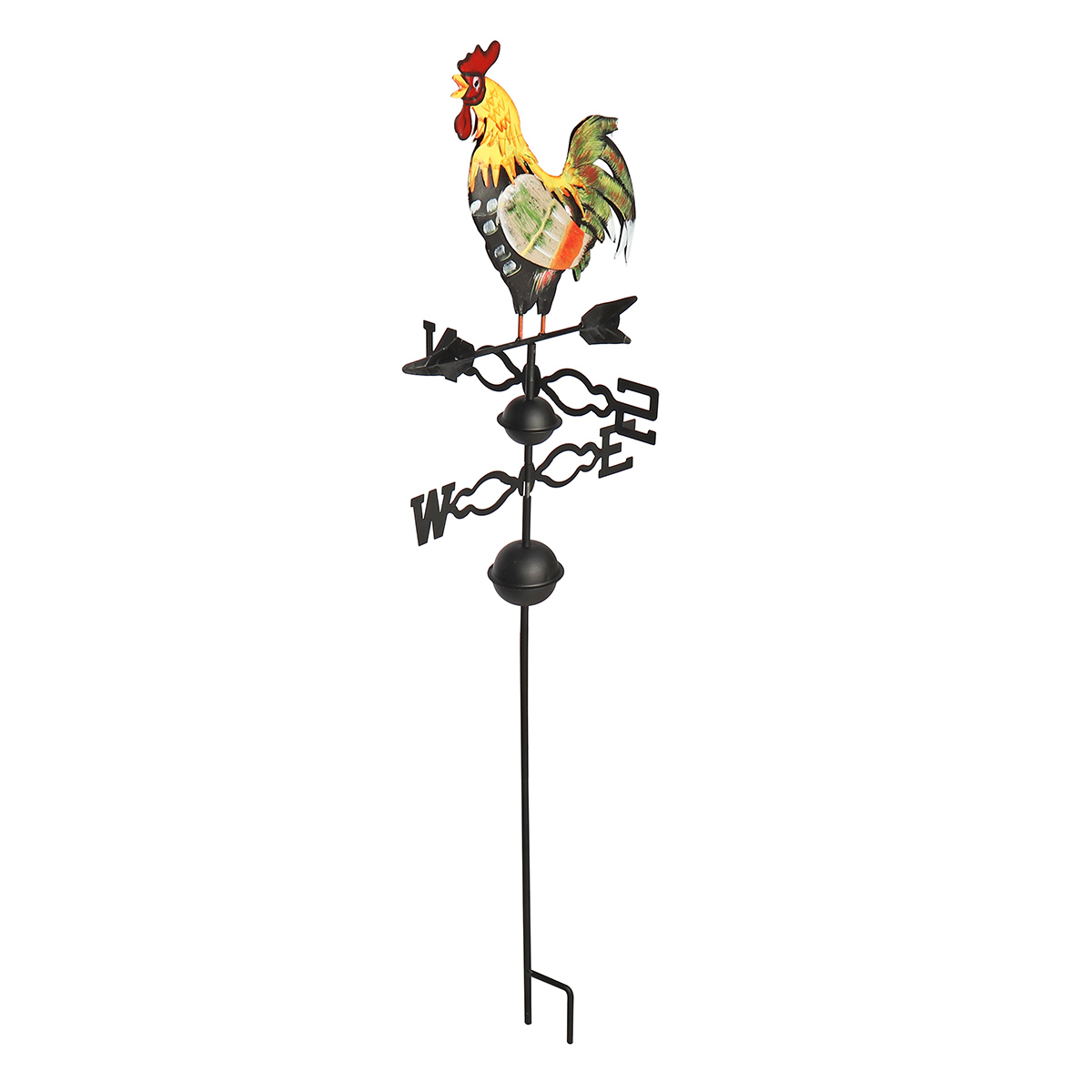 130cm Height Iron Rooster Weathervane Roof Mount Weather