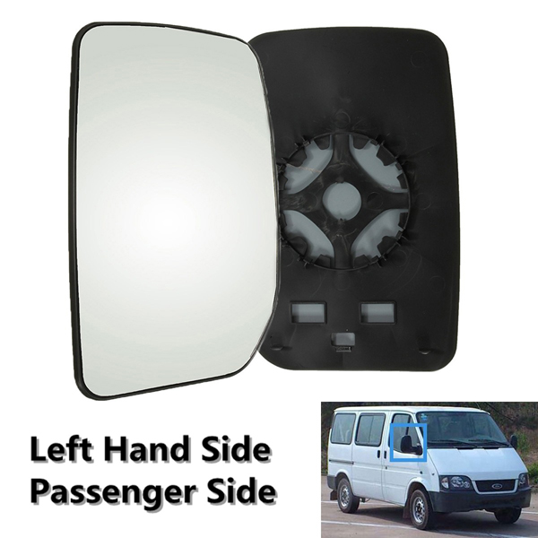 Car Left Passenger Side Wing Door Mirror Glass Clip On For Ford Transit 00-13