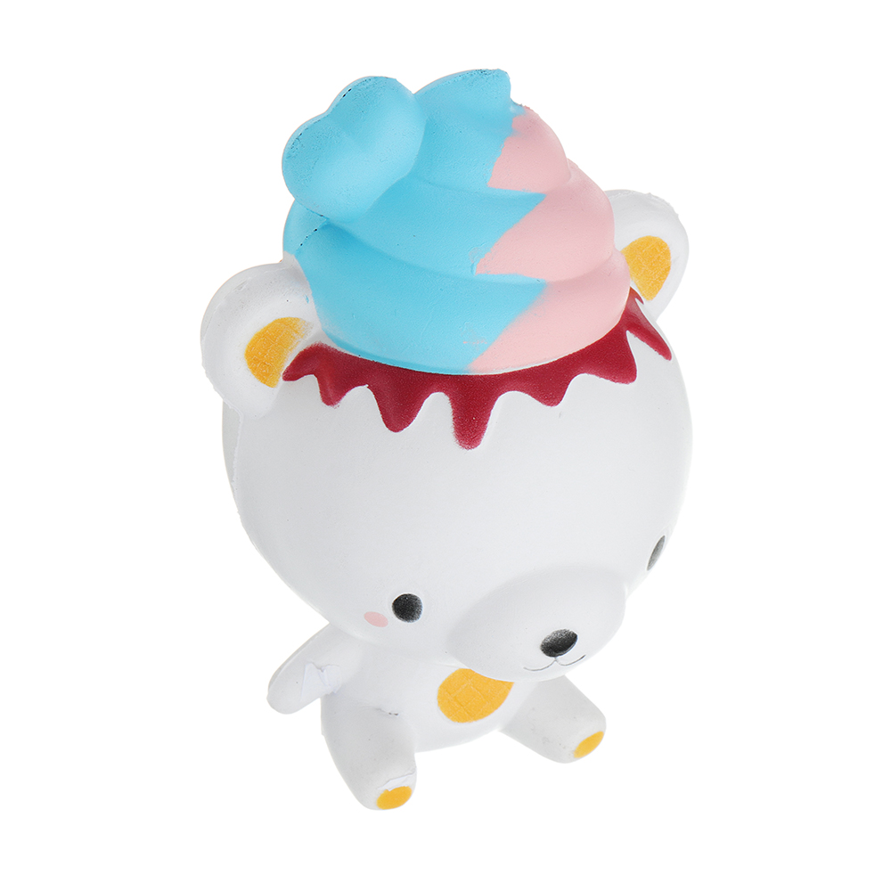 Ice Cream Bear Squishy 13*8.7*7.8 CM Slow Rising With Packaging Collection Gift Soft Toy