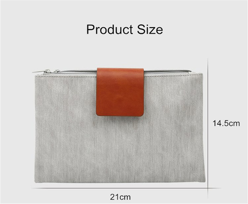 Universal Dual Zipper Pouch Large Capacity Foldable Accessory Management Collection Storage Bag