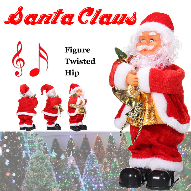 Christmas Gifts Electric Twisted Hip Musical Dancing Santa Claus Toys For Kids Children Gift