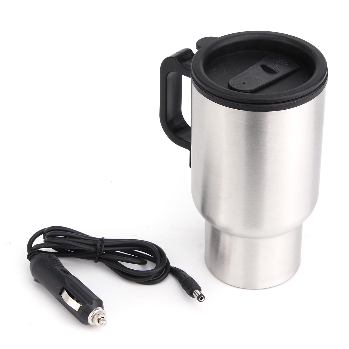 12V 450ml Stainless Kettle Car Cup Pot Water Auto Electric Heater with Cable