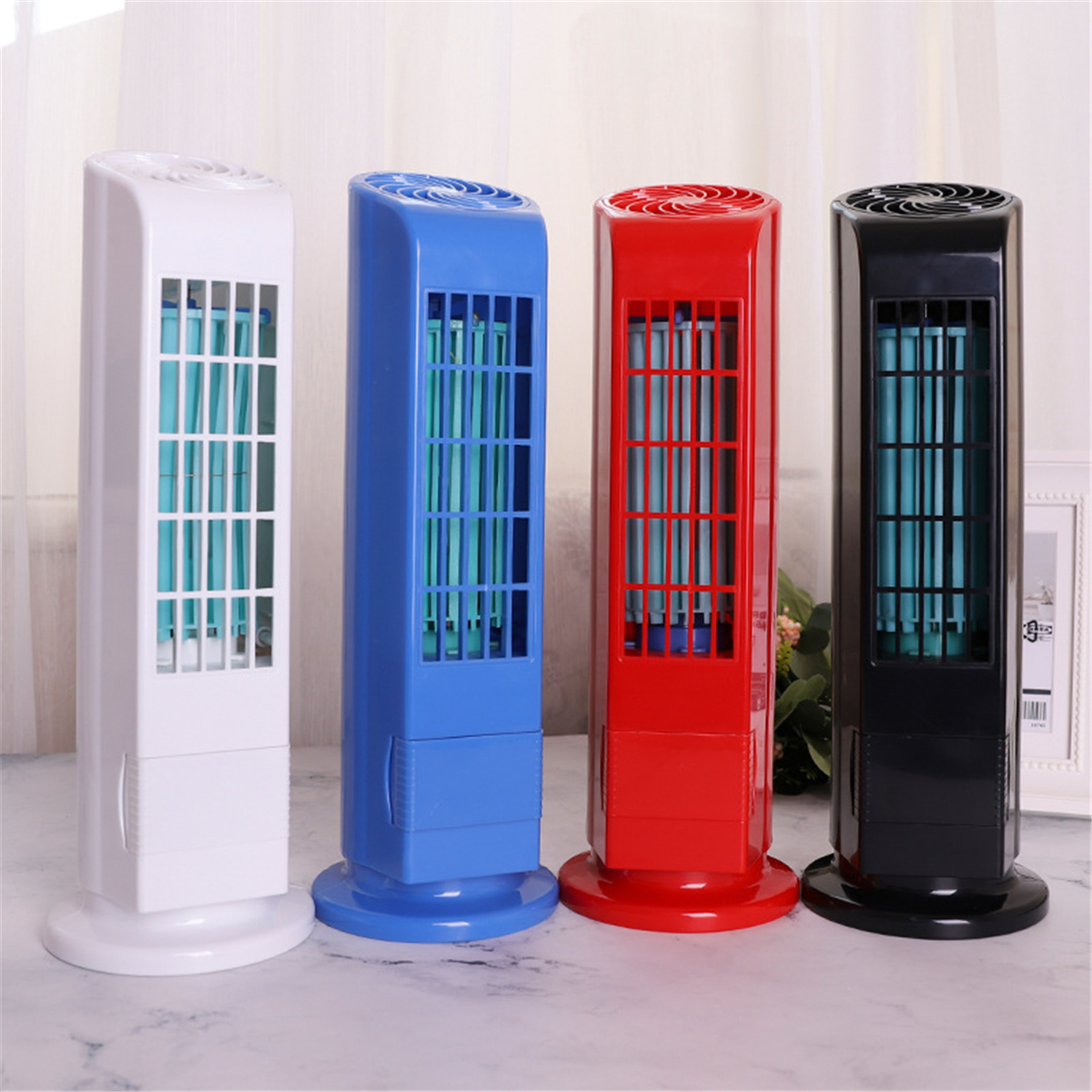 Portable USB Cooling Air Conditioner Purifier Travel HomeTower Bladeless Desk USB Fan 4 Colors