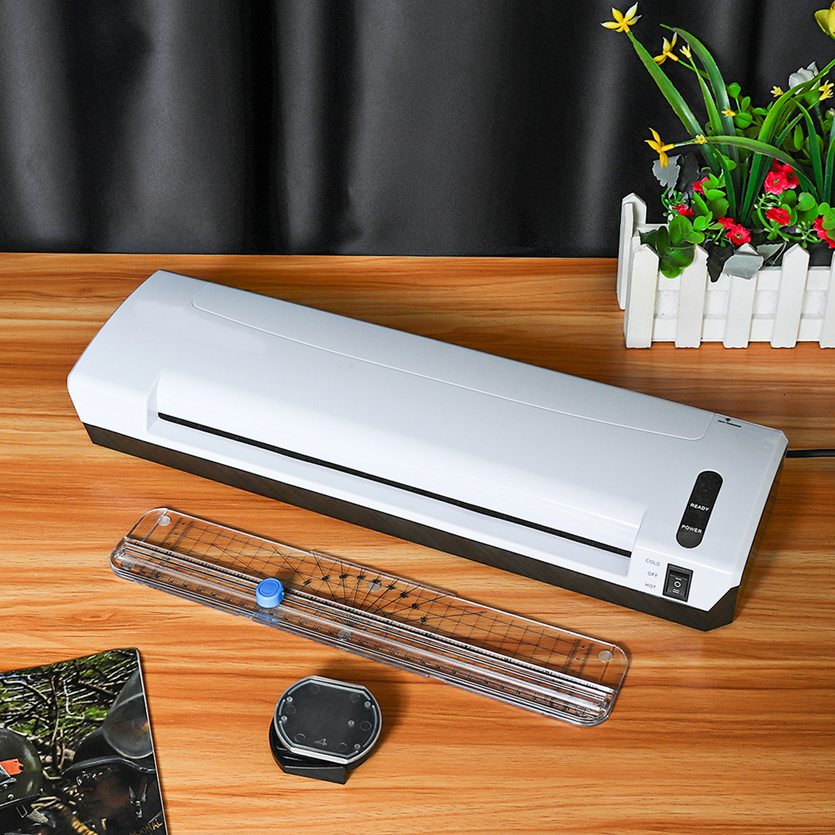 A3 Photo Laminator Cold Hot Pouch Paper Film Document Thermal Machine Trimmer Printer