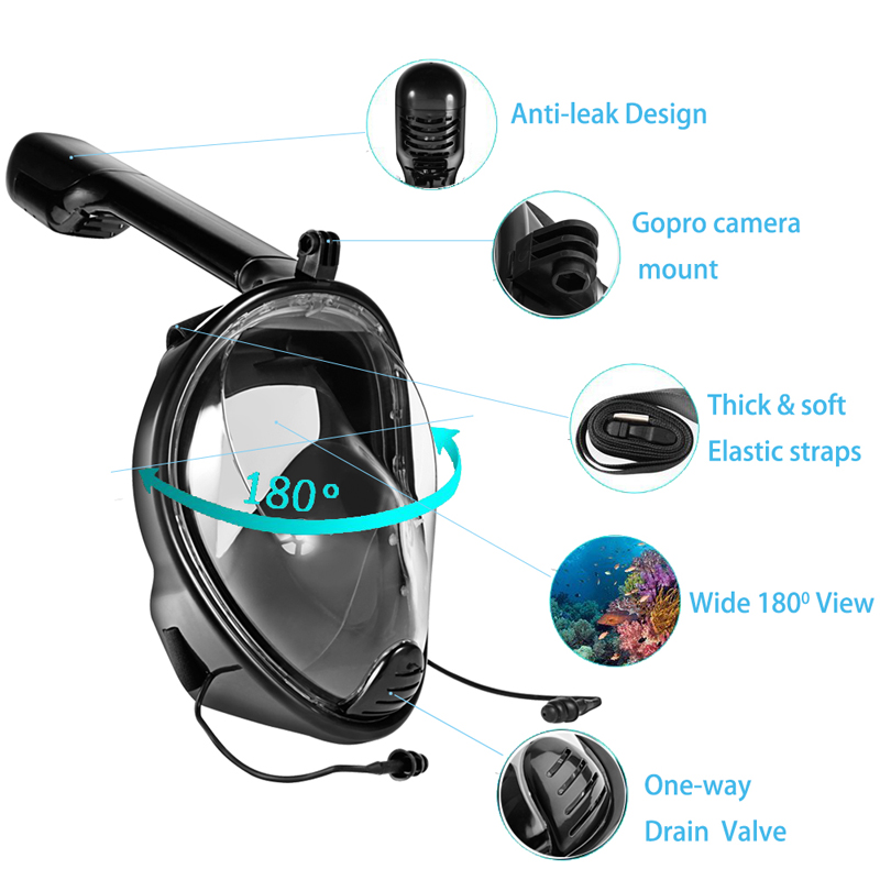 Anti Fog Camera Diving Mask Swimming Goggles Swimming Snorkel Diving Equipment