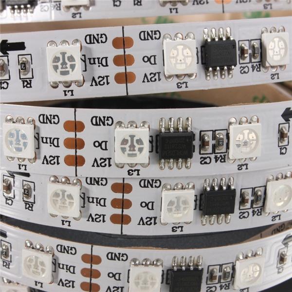 5M 57.5W DC 12V WS2811 300 SMD 5050 LED RGB Changeable Flexible Strip Light Individually addressabl