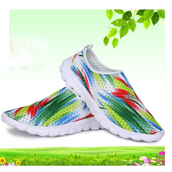 Women Mesh Breathable Sport Running Casual Outdoor Colorful Soft Athletic Shoes