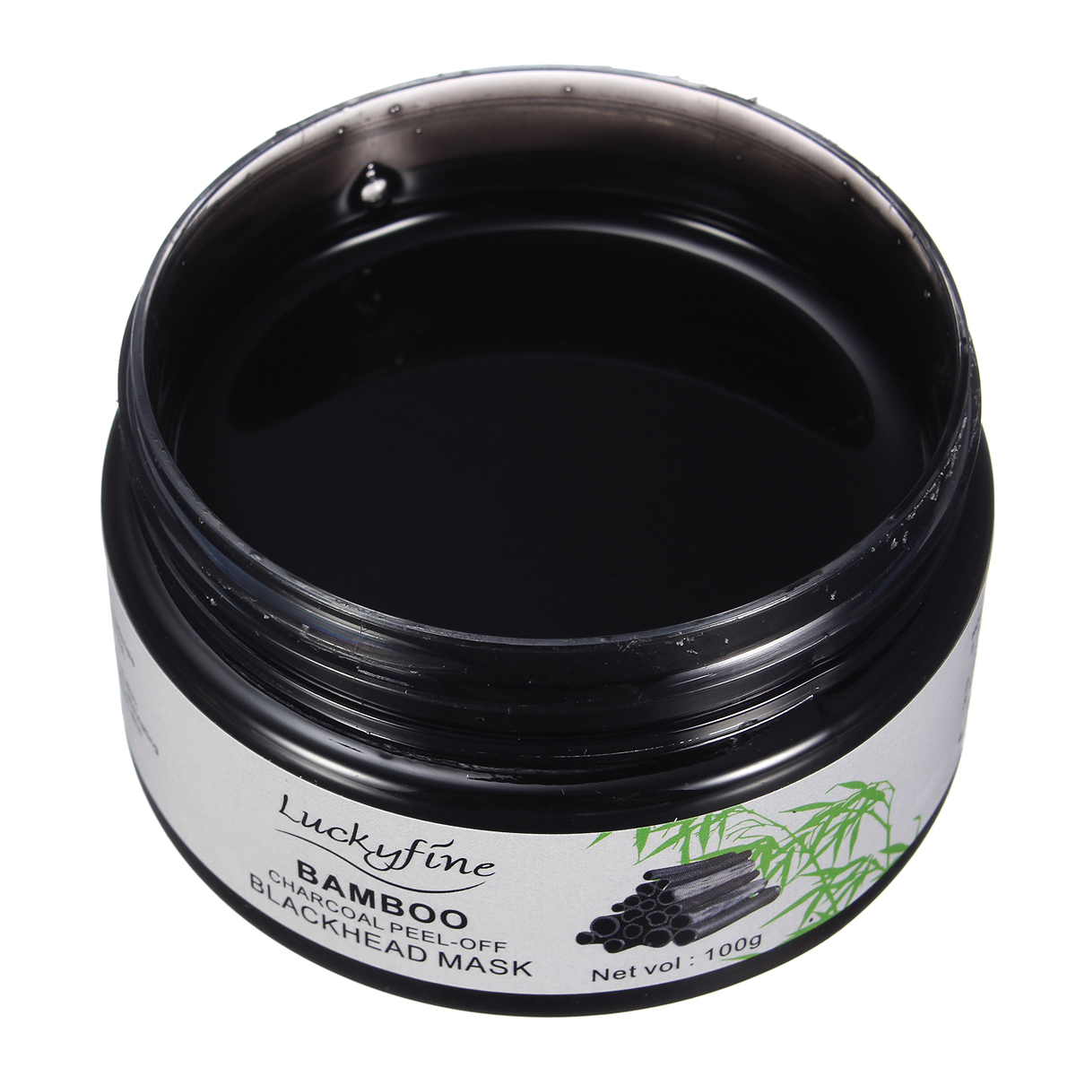 LuckyFine Blackhead Mask Bamboo Charcoal Peel-off Deep Cleaning Mask Resist Mirror and Spoon