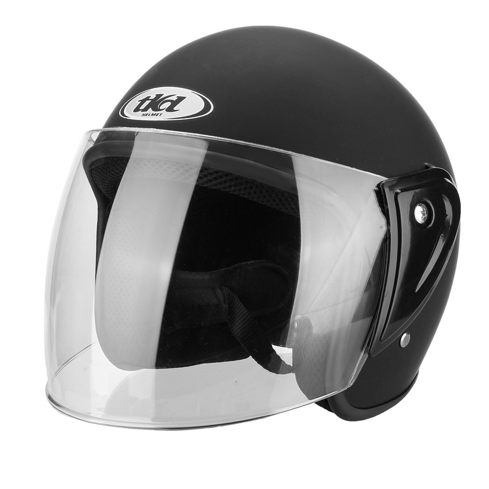 Half Open Face ABS Motorcycle Helmet Adjustable Breathable Protective Gear Unisex