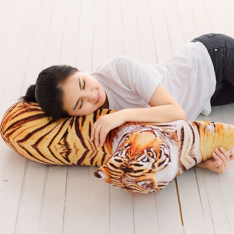 Honana WX-555 3D Simulation Animal Pillow Plush Printed Samoyed Husky Dog Tiger Cute Pillow Cushion