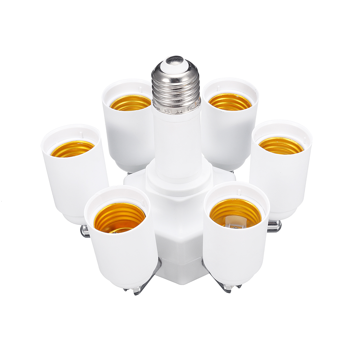 3 In 1 6 In 1 Adjustable E27 LED Light Lamp Bulb Adapter Converter Split Splitter Base Socket