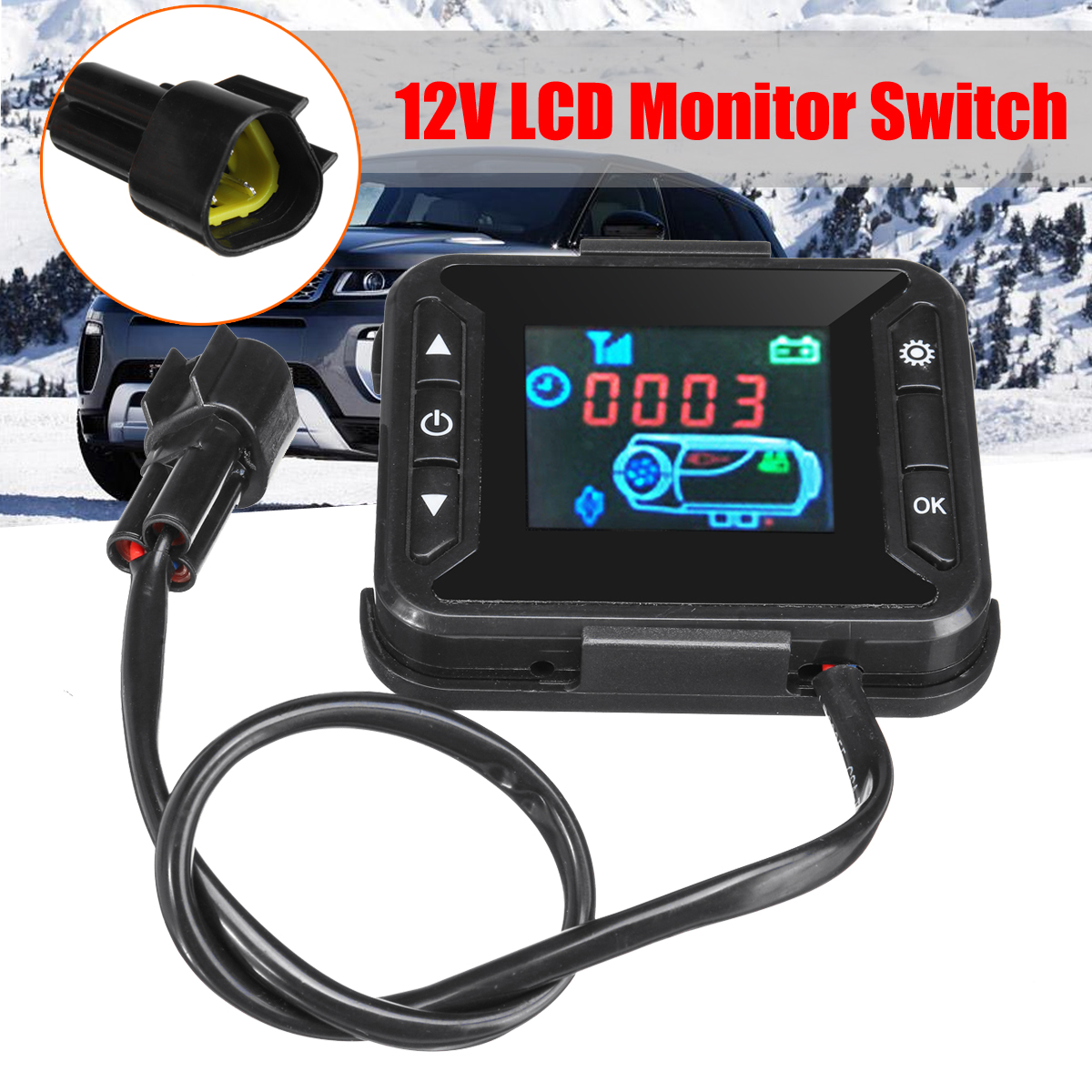 12V Car Heater LCD Monitor Switch Controller For Car Track Air Diesel Heater