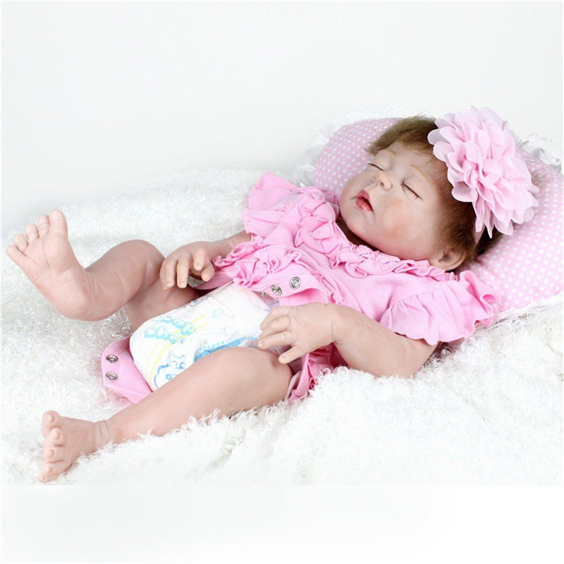 55cm Real Life Reborn Baby Doll Full Body Soft Vinyl Silicone Baby Doll Gift