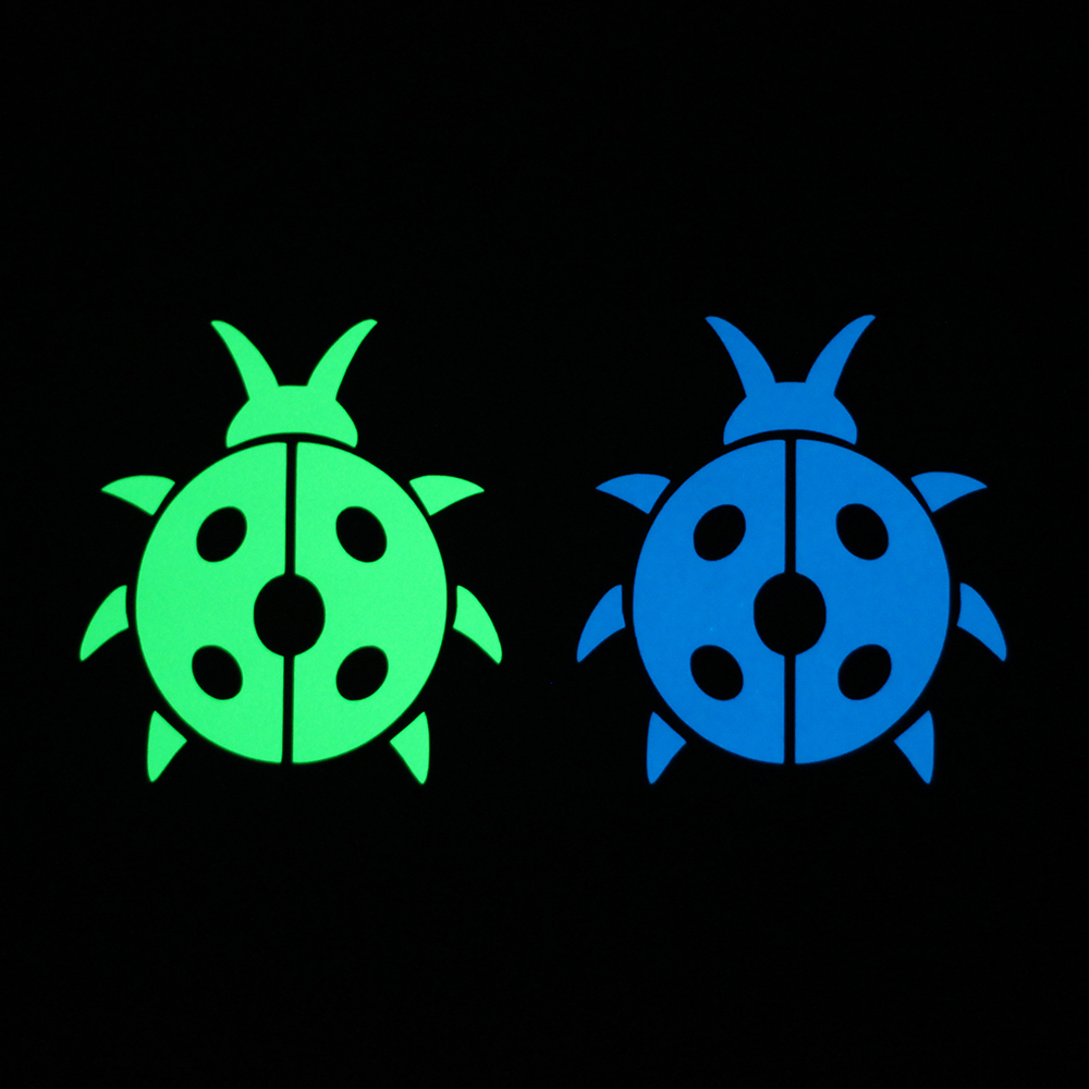 7.5*7.5cm Cartoon Ladybird Luminous Sticker Glow in the Dark Wall Switch Decal Sticker Boy Girl Room Laptop DIY Decoration Ladybug Sticker