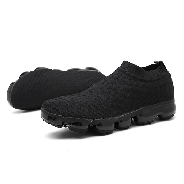 Men Casual Comfy Knitted Fabric Slip On Sneakers