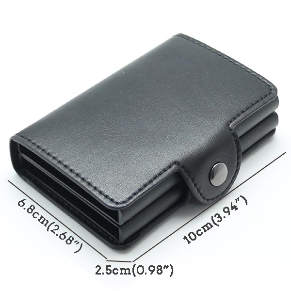 RFID Anti-magnetic Automatic Pop-up Double Aluminum Wallet