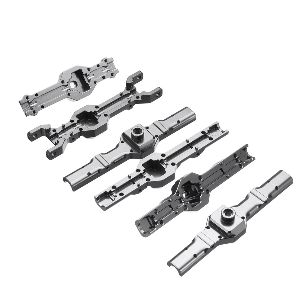 Metal Front+Middle+Rear Bridge Axle Shell Set For WPL HengLong 1/16 Military Truck RC Car Part