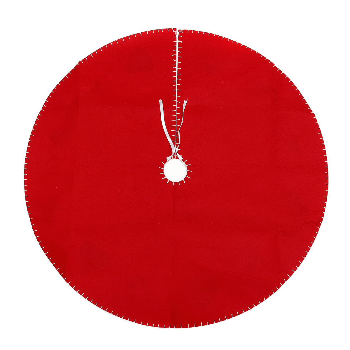 100cm Red Christmas Tree Skirt Carpet Party Gift Decor Pad Ornaments Round Mat
